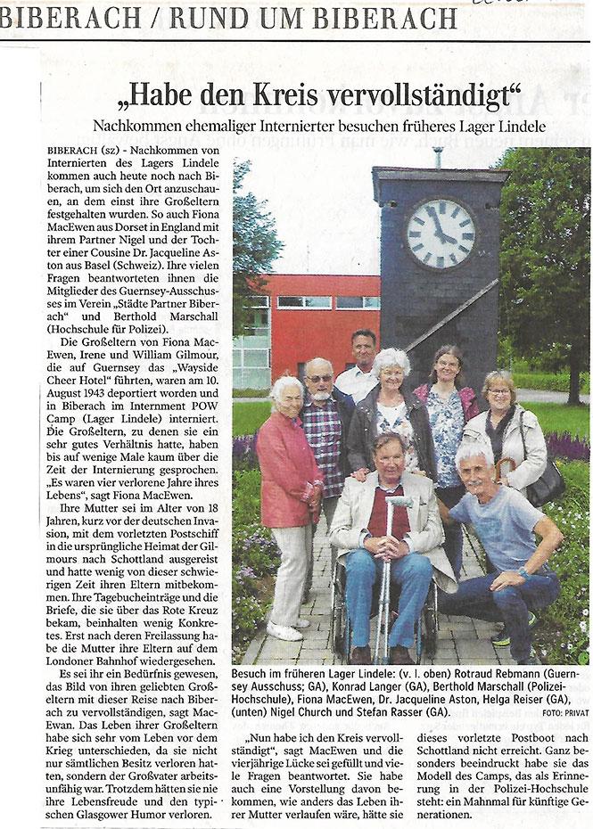 Fiona MacEwen visits Biberach